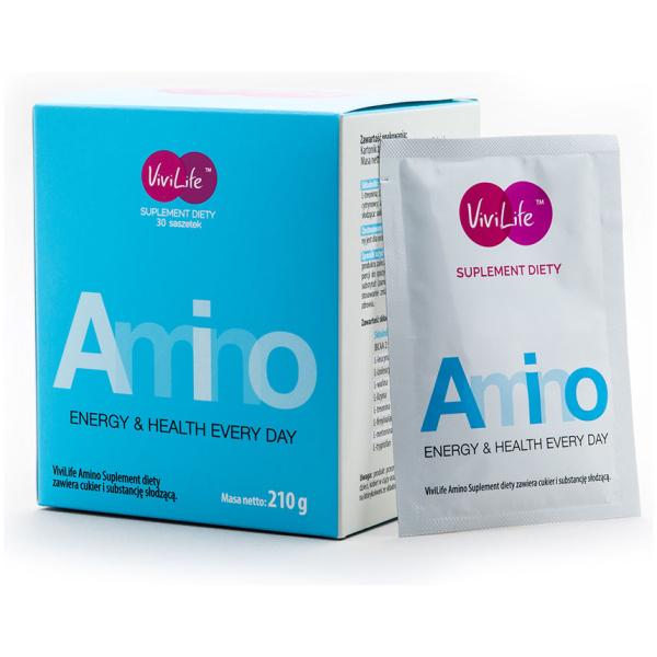 vivilife suplement diety amino aminokwasy 1 opakowanie i saszetka