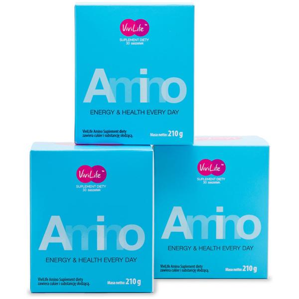 vivilife suplement diety amino aminokwasy 3 opakowania