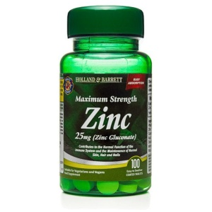 Holland & Barrett Cynk 25mg 100 Tabletek