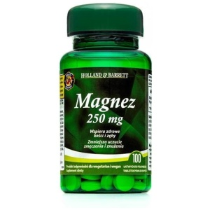 Holland & Barrett Magnez 250mg 100 Tabletek